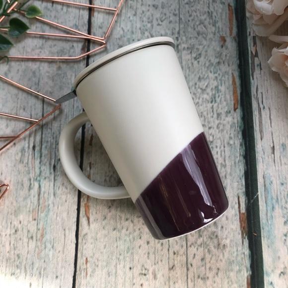 Davids tea perfect mug purple two tone lid infuser